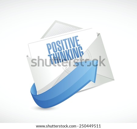 positive thinking email illustration design over a white background - stock vector
