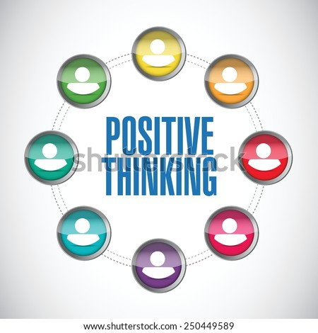 positive thinking people diagram illustration design over a white background - stock vector