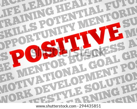 Positive word cloud, business concept - stock vector