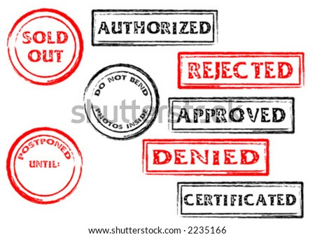 Post and office marks over white background - stock vector