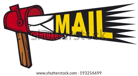 post box mailbox icon (mail box with letter inside)  - stock vector