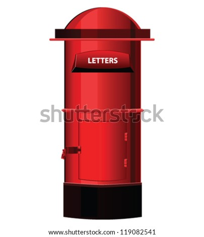 Post Box  or letter box Vector isolated on white background