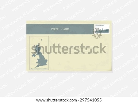 Post envelope in a retro style. - stock vector
