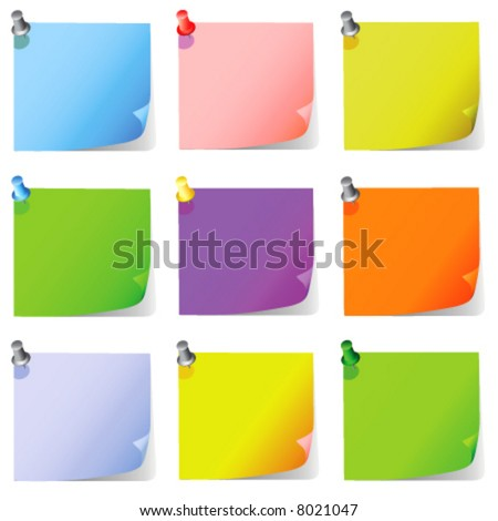 post it, note paper vector