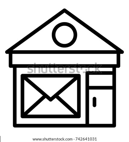 Exceptional Post Office Vector Icon