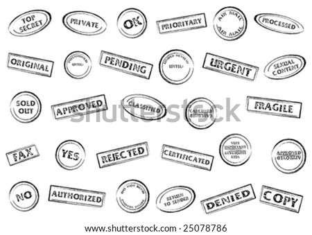 Post or office marks isolated over white background - stock vector