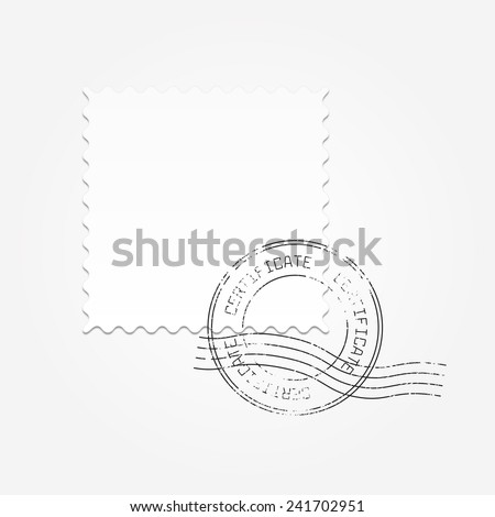Postage blank vector illustration - stock vector