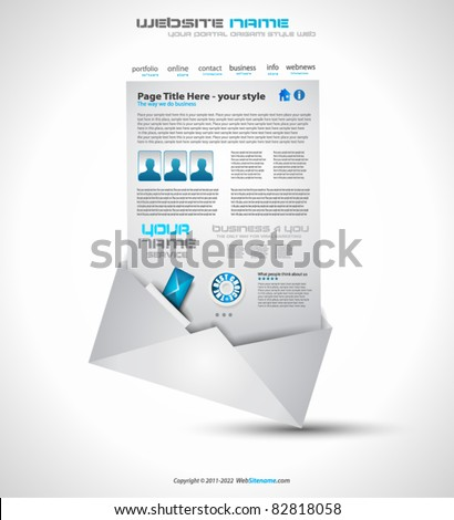 Postage high tech Website - Elegant Design for Business Presentations. Template with a lot of design elements. Every Shadow is transparent - stock vector