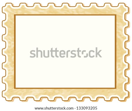 Postage stamp icon for various design - stock vector