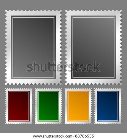 Postage stamp template - stock vector