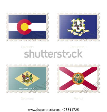 Florida State Symbols Postage Stamp With The Image Of Colorado