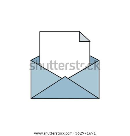 postal envelope icon. vector illustration - stock vector