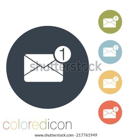 postal envelope sign. - stock vector
