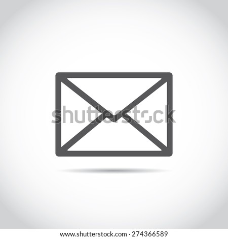 Postal envelope sign. e-mail symbol . icon envelope.VECTOR - stock vector