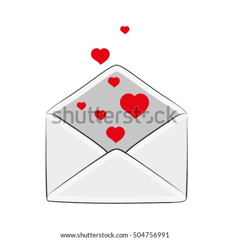 Postal envelope with love