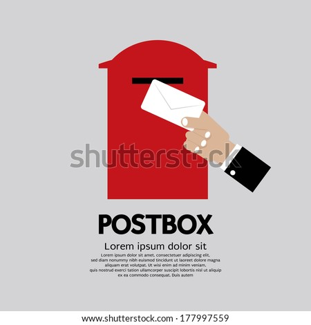 Postbox Vector Illustration - stock vector