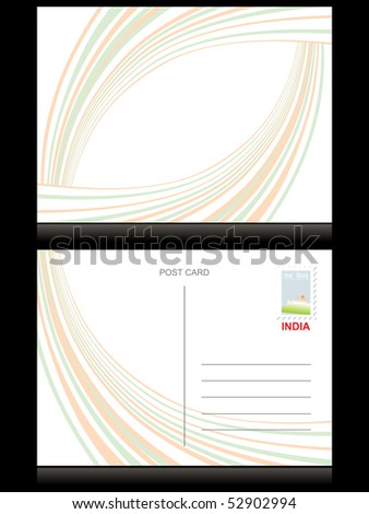 postcard for independence day, vector illustration - stock vector