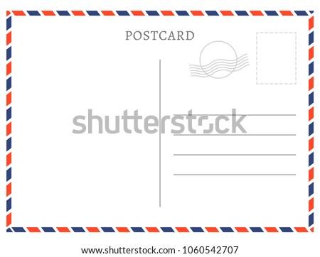 Po Postcard Template | Postcard Template Paper White Texture Vector Vector De