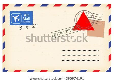 Postcard template vector  - stock vector