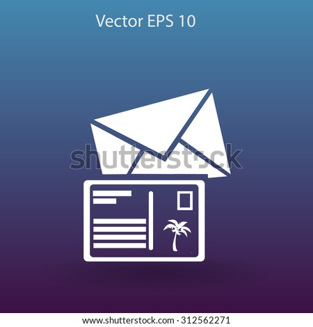 Postcards vector illustration - stock vector