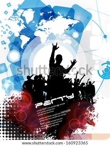 Poster Background for music. Vector