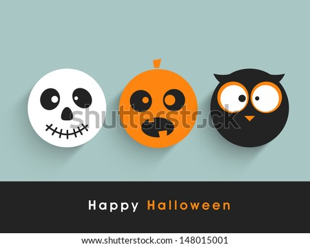 Poster, banner or background for Halloween Party Night. - stock vector