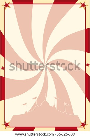 Poster circus vortex. A circus background for your advertising - stock vector