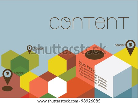 Poster design/Layout design/Colorful cubes - stock vector