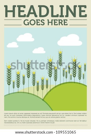 Poster Design/Layout/Vector Illustration - stock vector