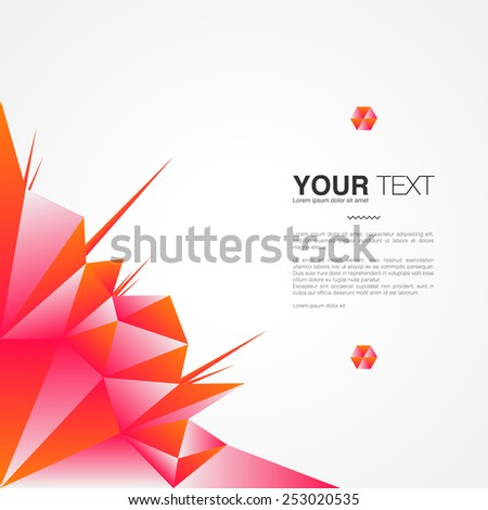Poster design with your text, minimal abstract background,  Eps 10 stock vector illustration - stock vector