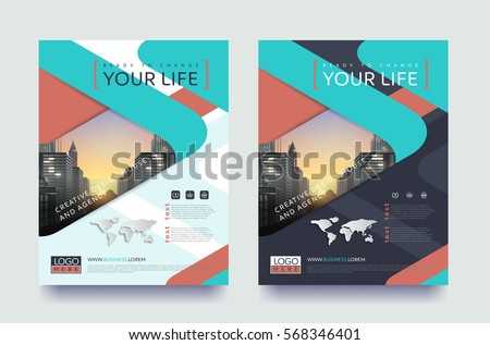 Poster Flyer Pamphlet Brochure Cover Design Stock Vector 568346401 ...