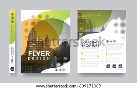 poster flyer pamphlet brochure cover design layout space for photo background, vector template