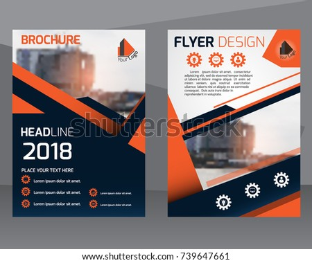 Poster Flyer Pamphlet Brochure Cover Design Layout Template With Graphic  Elements And Space For Photo Background  Pamphlet Layout Template