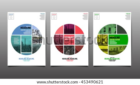 Poster , Flyer Template, Circle Abstact Background - stock vector