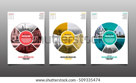 poster flyer template circle abstract background vector illustration