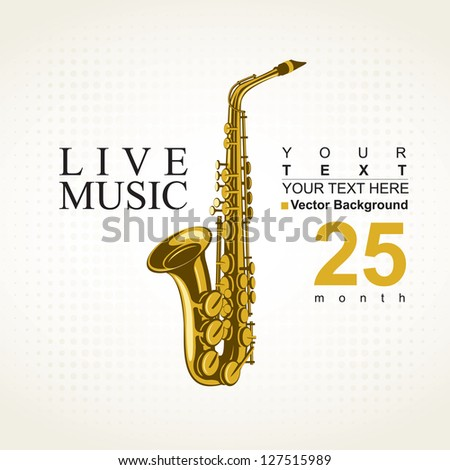 poster for a concert with saxophone - stock vector