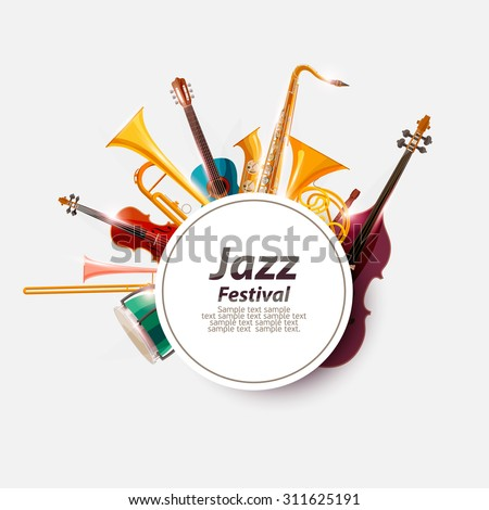 Poster for Jazz Festival. - stock vector