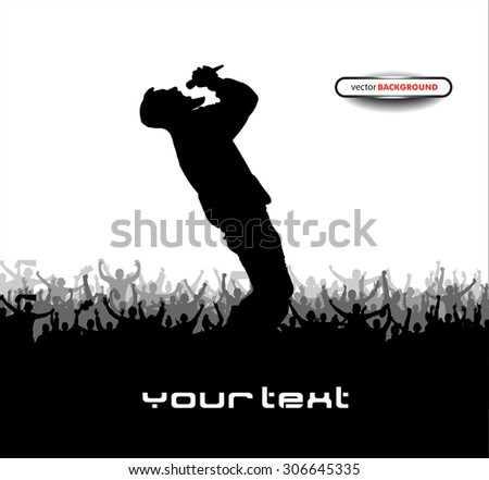 Poster for music concert. - stock vector