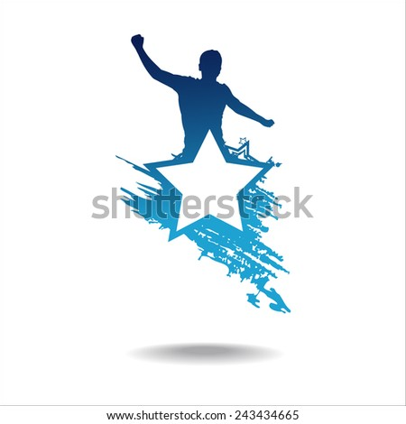 Poster for sports championships and concerts  - stock vector