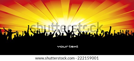 Poster for sports concerts and championships - stock vector