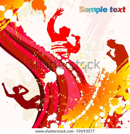 Poster from rap party - stock vector