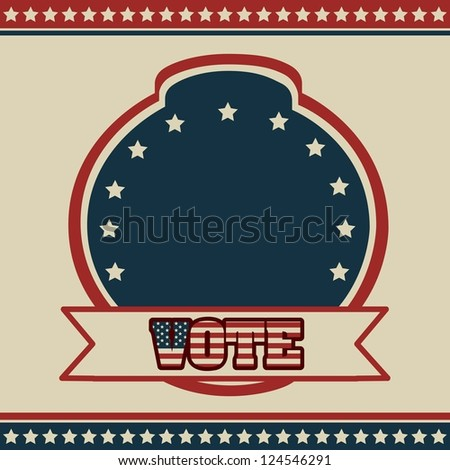 Poster illustration of votes of the United States of America in vintage style, vector illustration - stock vector