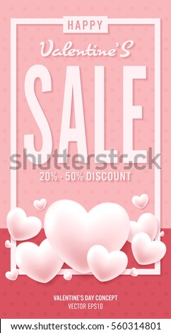 poster of valentine day in modern style vector design eps10 - Valentine Poster