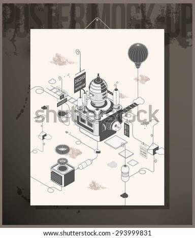 Poster- Story factory - stock vector