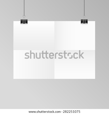 Poster template folded vector design. Easy to edit with your picture. - stock vector
