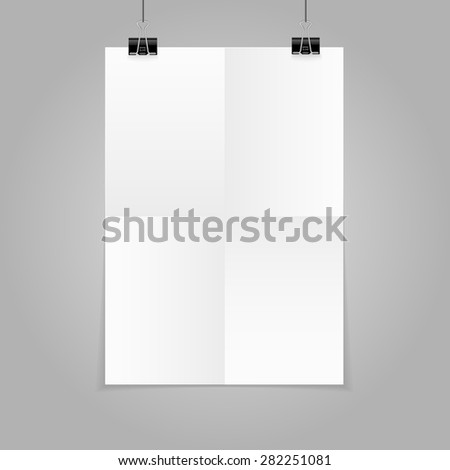 Poster template folded vector design. Easy to edit with your picture.