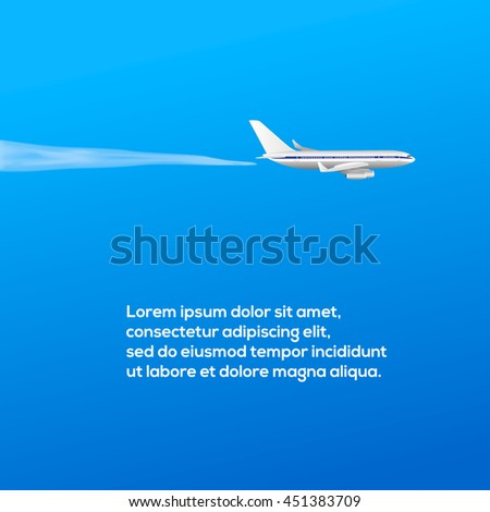 poster with airplane and place for your text  vector illustration