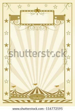 poster with big top. a background for a poster (Circus theme) - stock vector