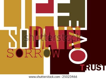 Poster with typography. Vector illustration. - stock vector