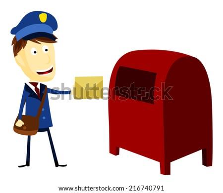 Postman - stock vector